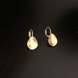 The Sak Gold Metal Scoop Drop Earrings! NWOT!
